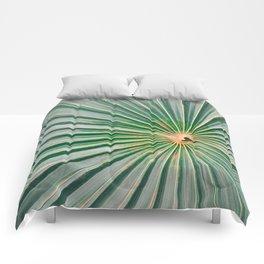 Palm up close | Botanical finea art photography print | Shades of green Comforters