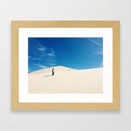 Eureka dunes Framed Art Print