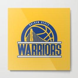Warriors vintage basketball logo Metal Print