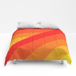 Turning Corners - Orange Yellow Hues Comforters