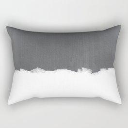 White Paint on Concrete Rectangular Pillow