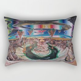 Come, walk with me. Let faith be all you need. Rectangular Pillow