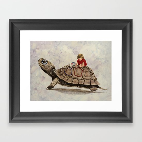 My Turtle Framed Art Print