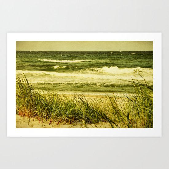 dunes and waves Art Print