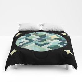 circle geometry (Black Background) Comforters