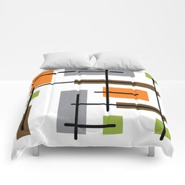 Mid Century Modern Cubicle Art Comforters