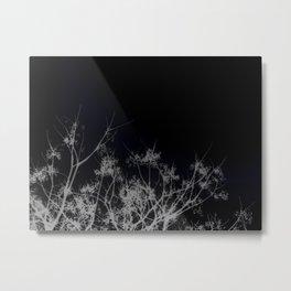 Tree Top-Black Metal Print