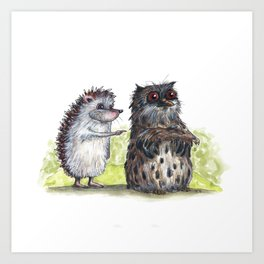 Hedgehog's here Art Print