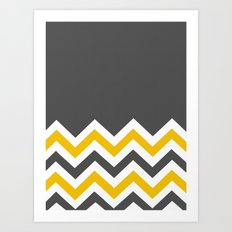 Color Blocked Chevron 14 Art Print