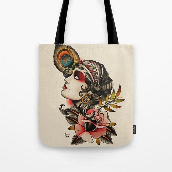 Gipsy girl - tattoo Tote Bag