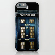 Tardis doctor who Mashup with sherlock holmes 221b door Slim Case iPhone 6