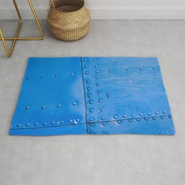 Abstract Of Blue Fuselage Of The Vintage Aircraft Rug