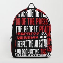 First Amendment Freedom of Speech and Protest Backpack