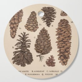 Pinecones Cutting Board