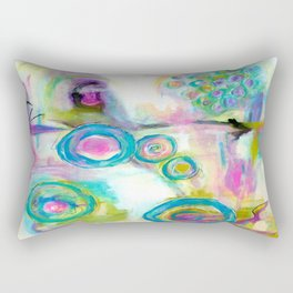 Driven To Distraction, Abstract Landscape Art Rectangular Pillow