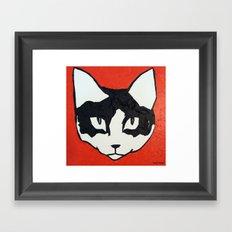 Red Kit Head Framed Art Print
