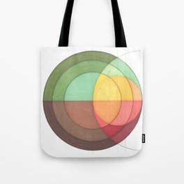 Concentric Circles Forming Equal Areas Tote Bag