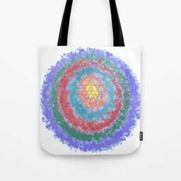 Be Like Water Sri Yantra Tote Bag