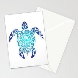 Tribal Sea Turtle Ocean Blue Hawaii Polynesian Maori Stationery Cards
