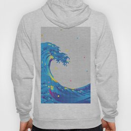 Great Wave in checked pattern_A Hoody