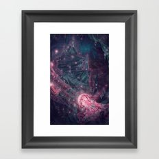 Jellyfish Hive Framed Art Print