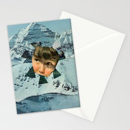 Child in the Wild Snow Stationery Cards