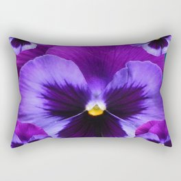 PURPLE PANSIES ON TEAL COLOR Rectangular Pillow