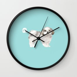 shih tzu funny farting dog breed pure breed pet gifts Wall Clock