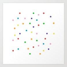 Candy Spots Art Print