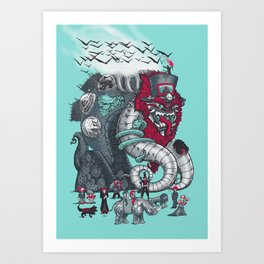Dark Circusbot Art Print
