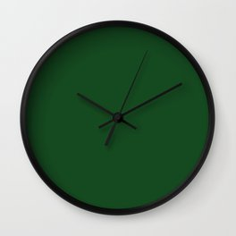 Green Boot Solid Summer Party Color Wall Clock