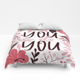 You do You - Floral Phrases Comforters