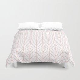 Pale Pink Herringbone Duvet Cover