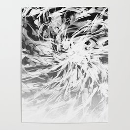B&W Abstract Spiral Poster