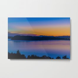 Fjord and Mountains Landscape, Chiloe Island, Chile Metal Print