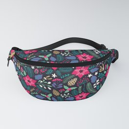 Seamless Floral Pattern Fanny Pack