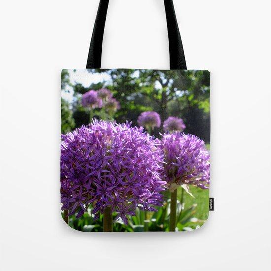 Purple Allium Giganteum Tote Bag