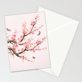 Pink Cherry Blossom Dream Stationery Cards