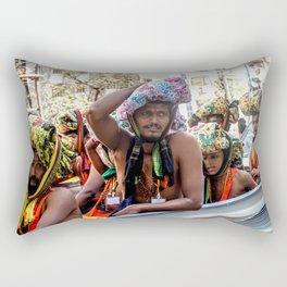 On the way to prayer - Burma / Myanmar Rectangular Pillow