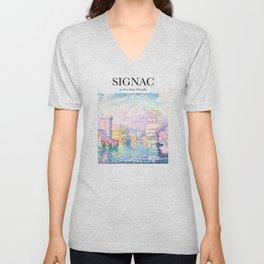 Signac - La Tour Rose, Marseille Unisex V-Neck