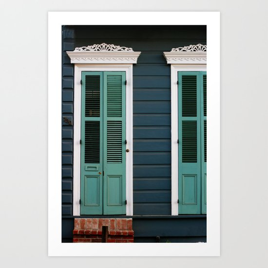 Creole Cottage Art Print