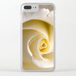 Feminine Rose Clear iPhone Case