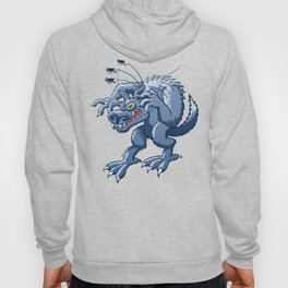 Werewolf Scratching Spooky Fleas Hoody