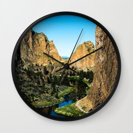 Rocks + River // Hiking Mountains Colorado Scenic View Landscape Photography Forest Backpacking Vibe Wall Clock