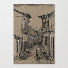 Old Village Alley Canvas Print