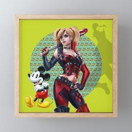 Posing in Red Framed Mini Art Print