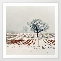 Winter Farm Art Print