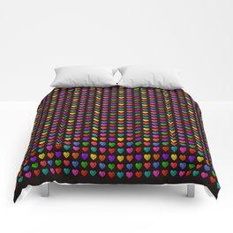 Sweet heart Pattern Comforters