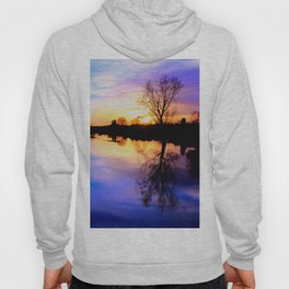 River in flood at sunset Hoody