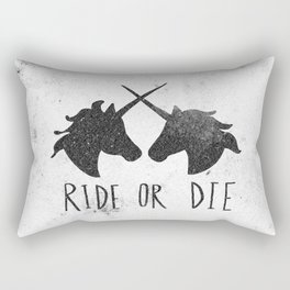 Ride or Die x Unicorns Rectangular Pillow